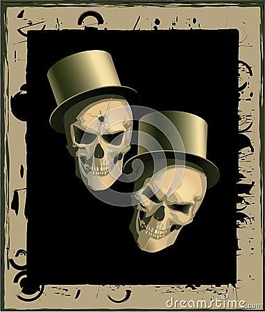 Two spiteful skulls