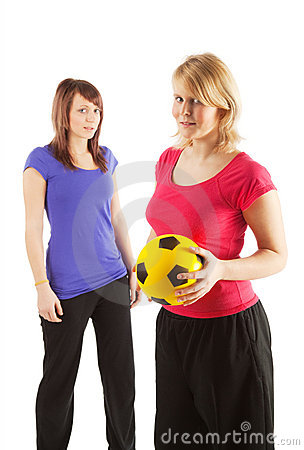 Two sportive girls