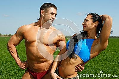 Two sportsmen
