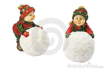Two statuettes snowman