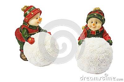 Two statuettes snowman