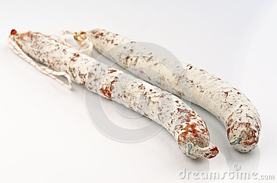 Two sticks of fuetsausage