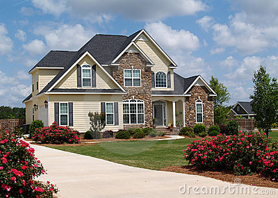 Two Story Residential Home Royalty Free Stock Photography