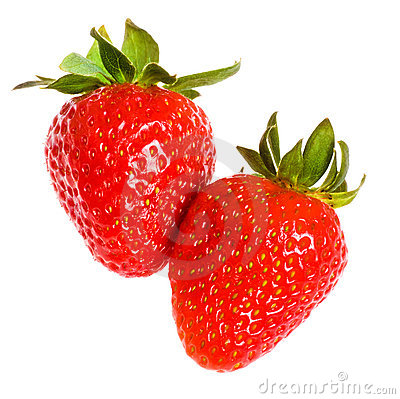 Free Two Strawberries Royalty Free Stock Photography - 18693367