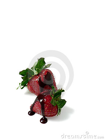 Free Two Strawberries With Chocolate Stock Photos - 864913