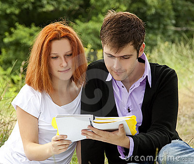 Two students at outdoor