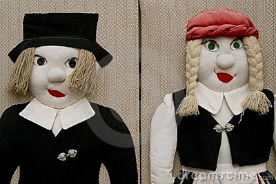 Two stuffed dolls