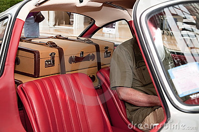 Two Suitcases In The Car