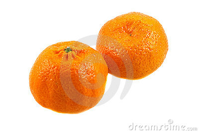 Two sweet ripe spain mandarins