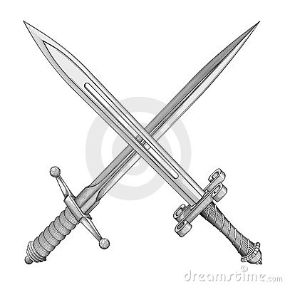 Free Two Swords Vector Royalty Free Stock Image - 4671916