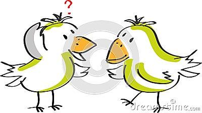Two talking birds