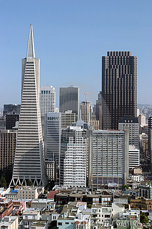 Two Tallest Buildings in San Francisco Editorial Stock Photo