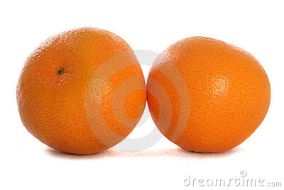 Two tangerines cutout