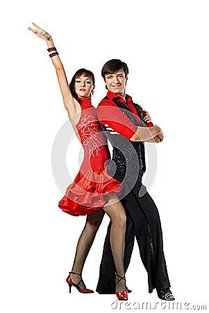 Two Tango dancers posing