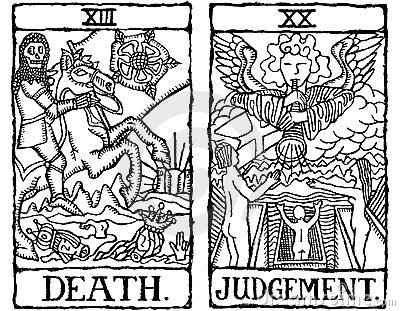 Two Tarot Cards outline v.9