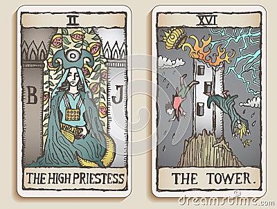 Two Tarot Cards v.2