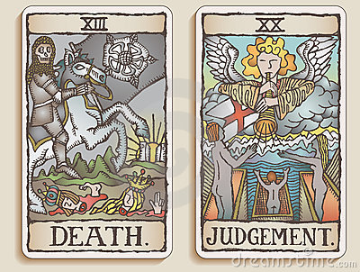 Two Tarot Cards v.9
