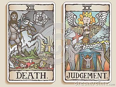 Two Tarot Cards v.9