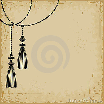 Two tassels background.