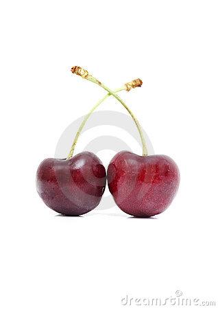 Two tasty cherries
