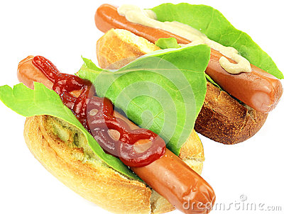 Two tasty hot dog