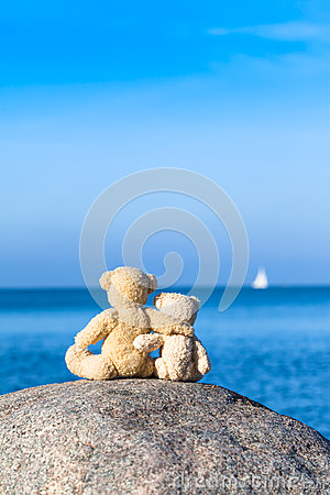 Free Two Teddy Friends Stock Image - 67039871