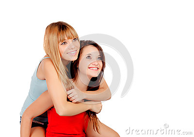 Two teen sisters
