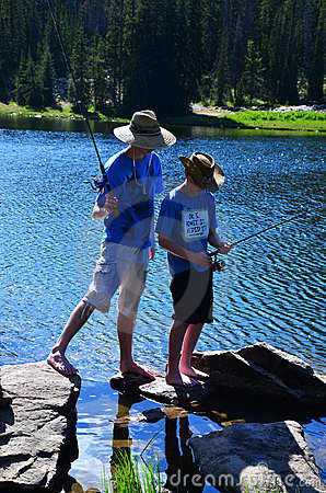 Two Teenage Boys Fishing