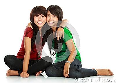 Two teenage girls best friend