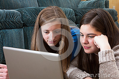 Teens study close up