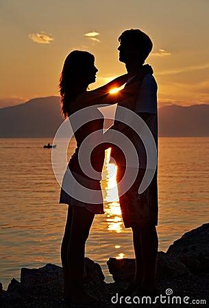 Two teenagers on the beach II