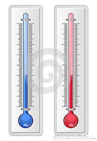 Two thermometers in glosst style