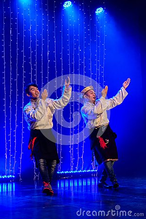 Free Two Tibetan Dancers Stock Photos - 123758963