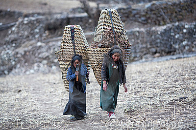 Two tibetan girls Editorial Image