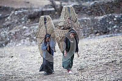 Two tibetan girls Editorial Image