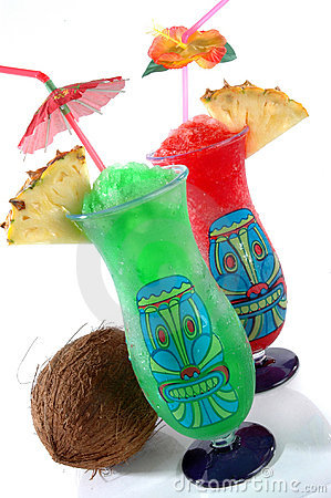 Free Two Tiki Tropical Drinks Stock Image - 432921