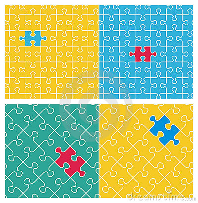 Two tilable puzzle patterns