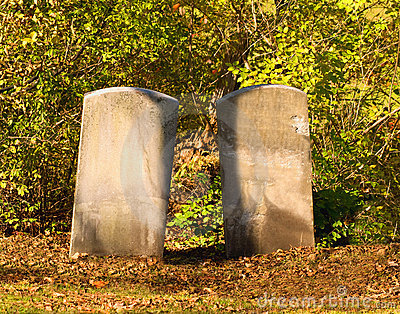Two tombstones