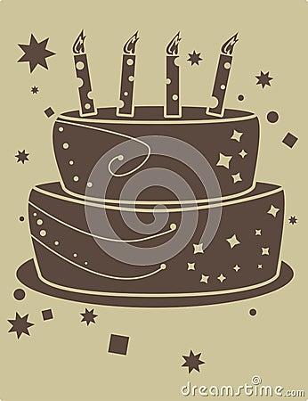 Two tone birthday cake