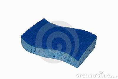 Two-tone blue sponge