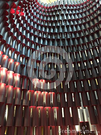 Free Two Tone Perspective Pattern Of Cylinders Stock Image - 118901541