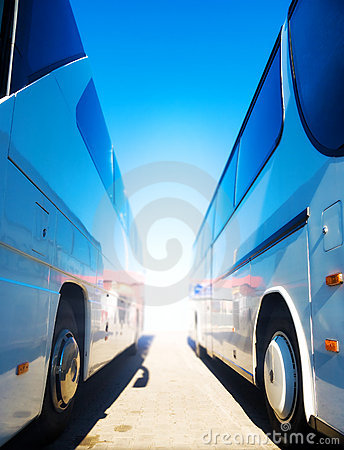 Free Two Tourist Buses Royalty Free Stock Image - 6624696