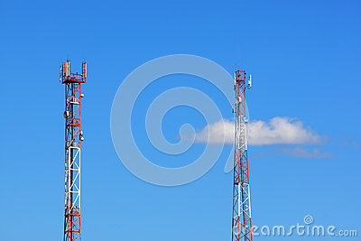 Two towers of cellular communication