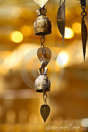 Two tradition asian bells