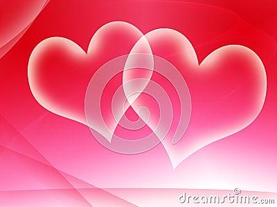 Two translucent valentines