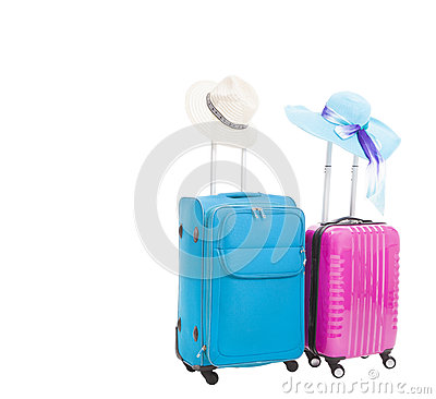Two travel case with hats
