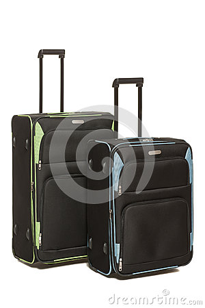 Two Travel Suicases On Wheels Royalty Free Stock Images - Image: 26065229