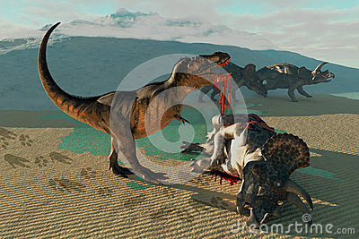 Triceratops and Tyrannosaurus