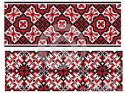 Two ukrainian embroidery