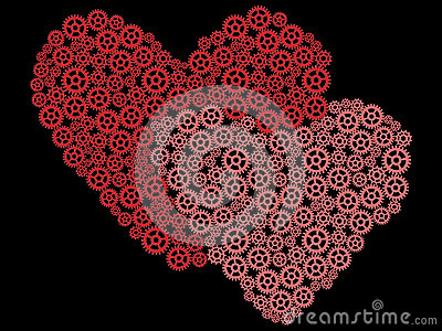 Valentines made of gears